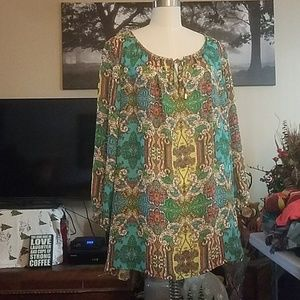 Charter Club Woman colorful blouse 3X